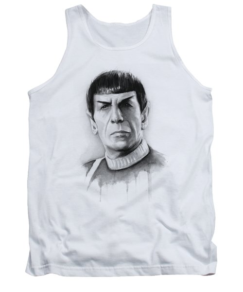 Star Trek Spock Portrait Tank Top by Olga Shvartsur