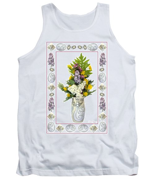 Star Vase With A Bouquet From Heaven Tank Top by Lise Winne