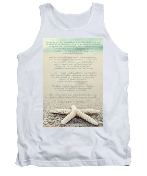Starfish Make A Difference Vintage Set 1 Tank Top by Terry DeLuco