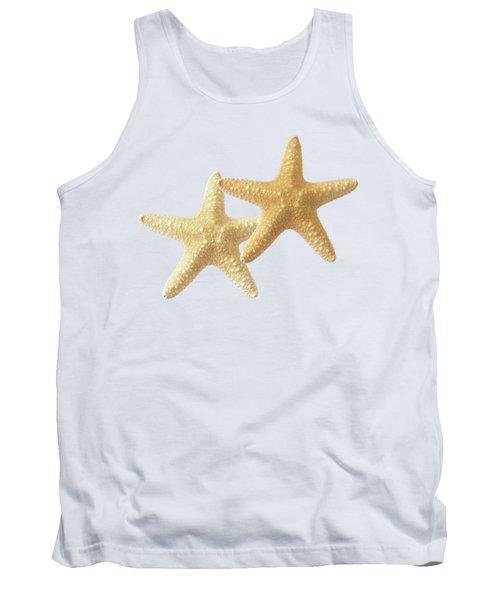 Starfish On White Tank Top