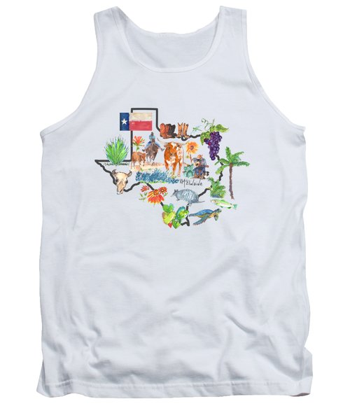 State Of Texas As I Know It Tank Top