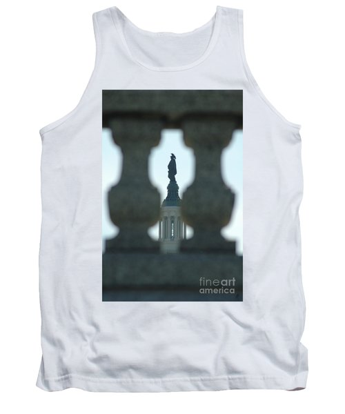 Statue Of Freedom Through Railing Tank Top