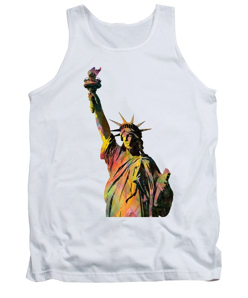 Statue Of Liberty Tank Top by Marlene Watson