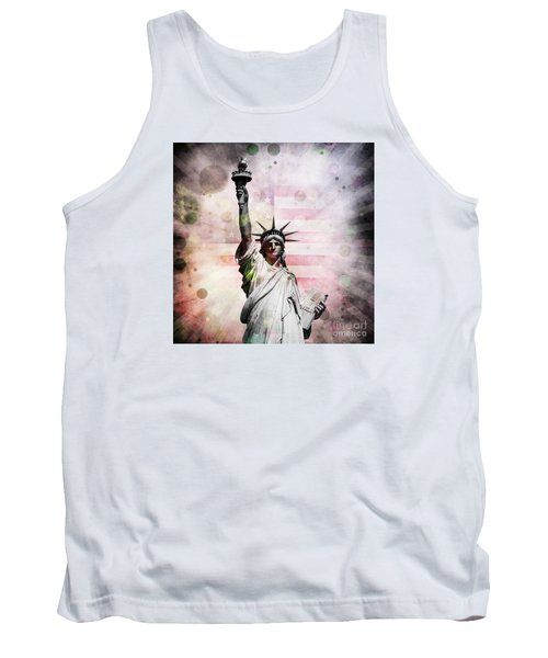 Tank Top featuring the digital art Statue Of Liberty by Phil Perkins