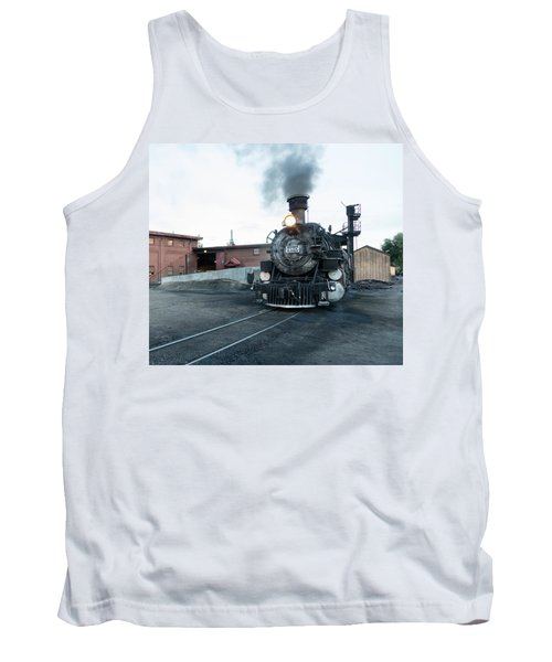 Steam Locomotive In The Train Yard Of The Durango And Silverton Narrow Gauge Railroad In Durango Tank Top by Carol M Highsmith