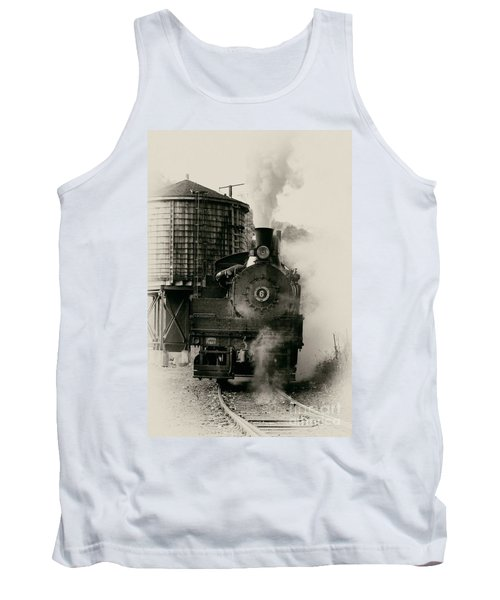 Tank Top featuring the photograph Steam Train by Jerry Fornarotto
