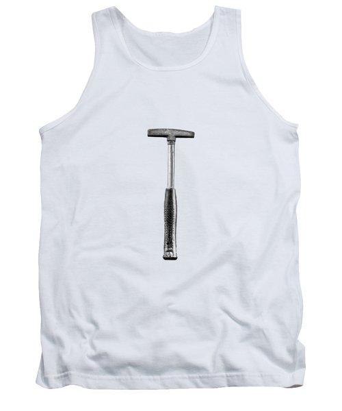 Steel Tack Hammer II On Plywood 74 In Bw Tank Top
