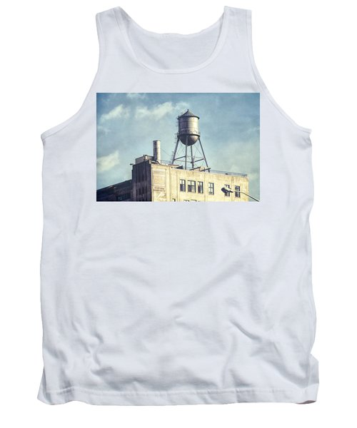 Tank Top featuring the photograph Steel Water Tower, Brooklyn New York by Gary Heller