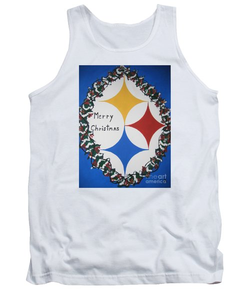 Steelers Christmas Card Tank Top by Jeffrey Koss