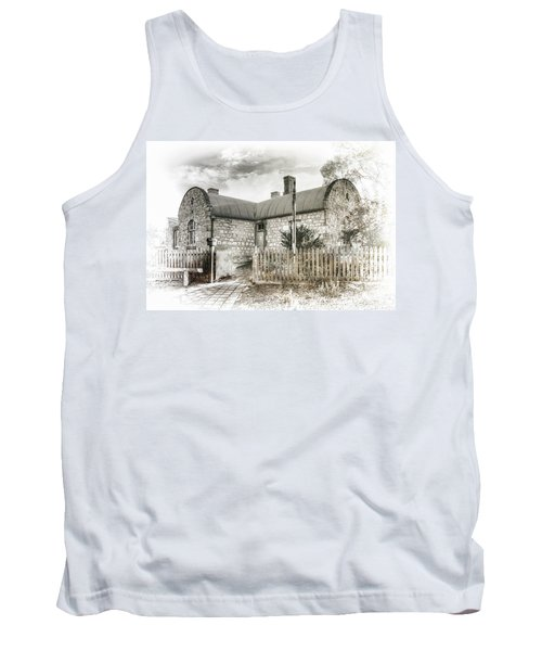 Tank Top featuring the photograph Stone Cottage by Wayne Sherriff