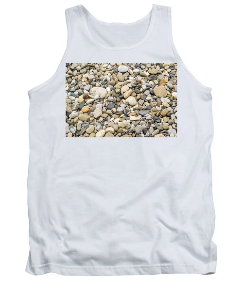 Tank Top featuring the photograph Stone Pebbles Patterns by John Williams