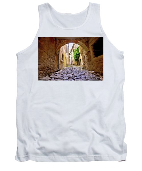 Stone Town Of Groznjan Old Street  Tank Top by Brch Photography