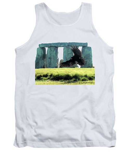 Tank Top featuring the photograph Stonehenge Crow by Terry Cosgrave