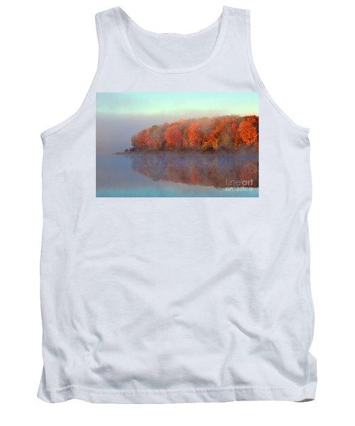 Stoneledge Lake Pristine Beauty In The Fog Tank Top by Terri Gostola
