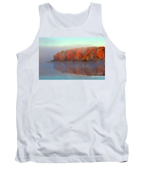 Stoneledge Lake Pristine Beauty In The Fog Tank Top