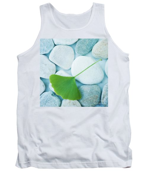 Stones And A Gingko Leaf Tank Top