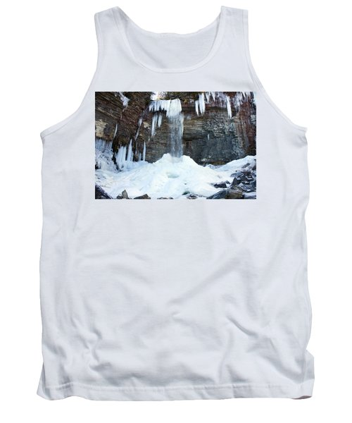 Tank Top featuring the photograph Stony Kill Falls In February #2 by Jeff Severson