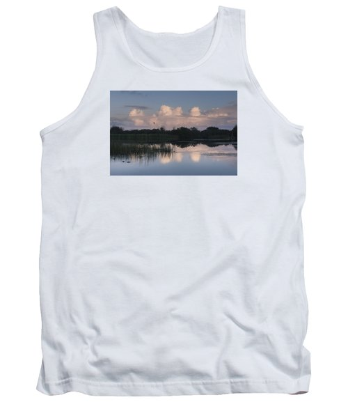 Storm At Sunrise Over The Wetlands Tank Top
