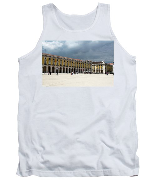 Tank Top featuring the photograph Storm Brews Over Commerce Square by Lorraine Devon Wilke
