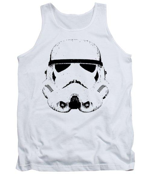 Stormtrooper Helmet Star Wars Tee Black Ink Tank Top
