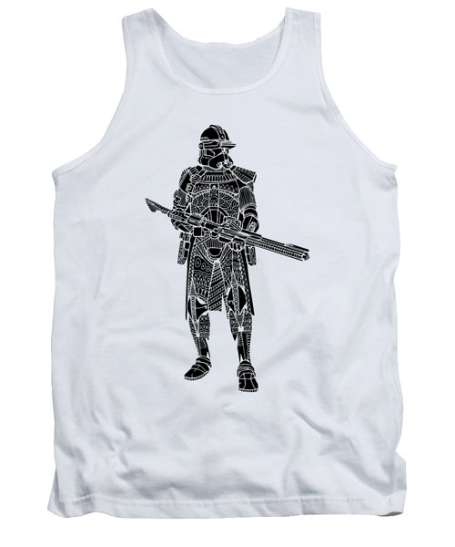 Stormtrooper Samurai - Star Wars Art - Black Tank Top