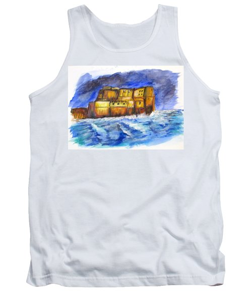 Stormy Castle Dell'ovo, Napoli Tank Top by Clyde J Kell