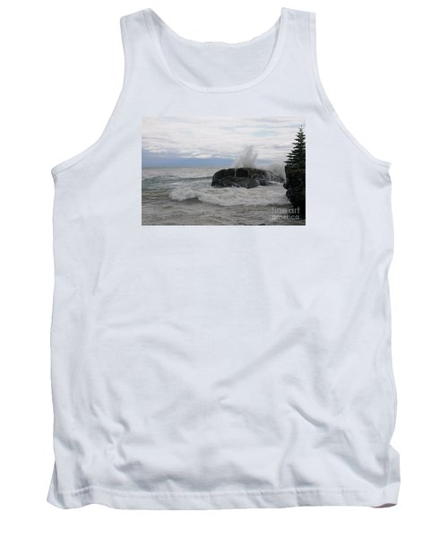 Tank Top featuring the photograph Stormy Morning On Superior by Sandra Updyke