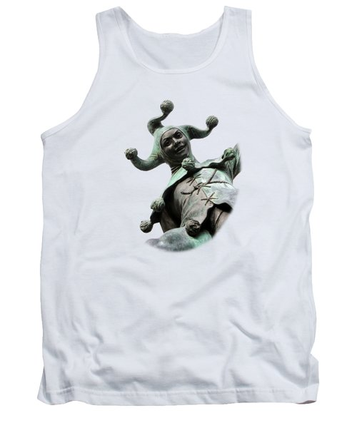 Stratford's Jester Statue On Transparent Background Tank Top by Terri Waters