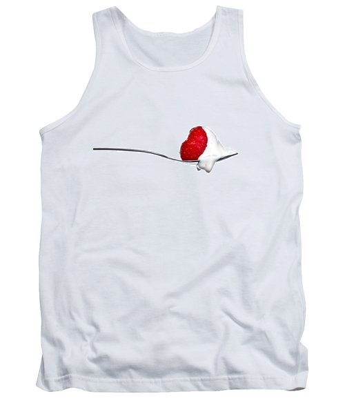 Strawberry And Cream Tank Top by Gert Lavsen