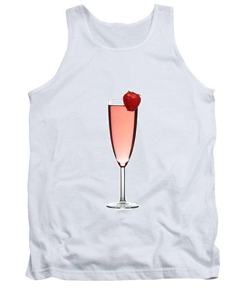 Strawberry Champagne Tank Top by Gert Lavsen