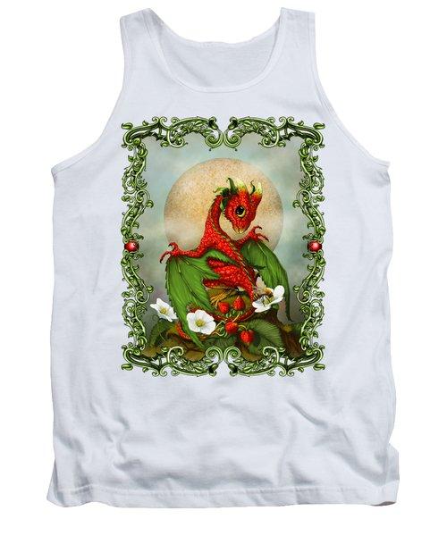 Strawberry Dragon T-shirt Tank Top by Stanley Morrison