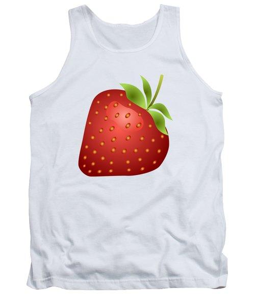 Strawberry Fruit Tank Top by Miroslav Nemecek