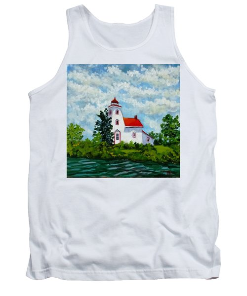 Strawberry Island Lighthouse, Manitoulin Island Tank Top