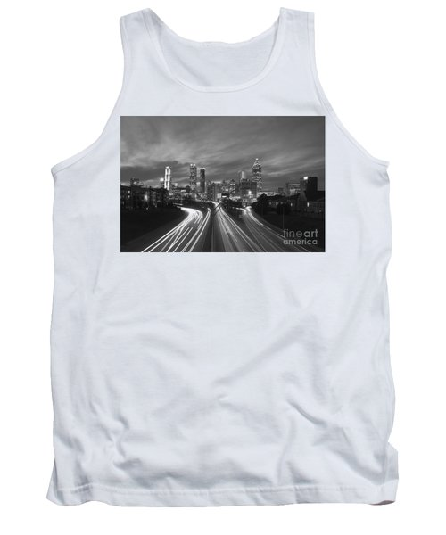 Streaking To And From Atlanta Night Lights Sunset 2 Tank Top