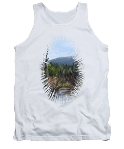Tank Top featuring the painting Stream by Ivana Westin