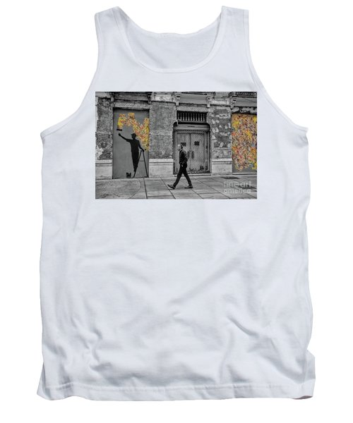 Tank Top featuring the photograph Street Art In Malaga Spain by Henry Kowalski