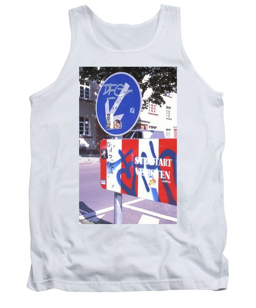 Street Art In Street Sign Tank Top