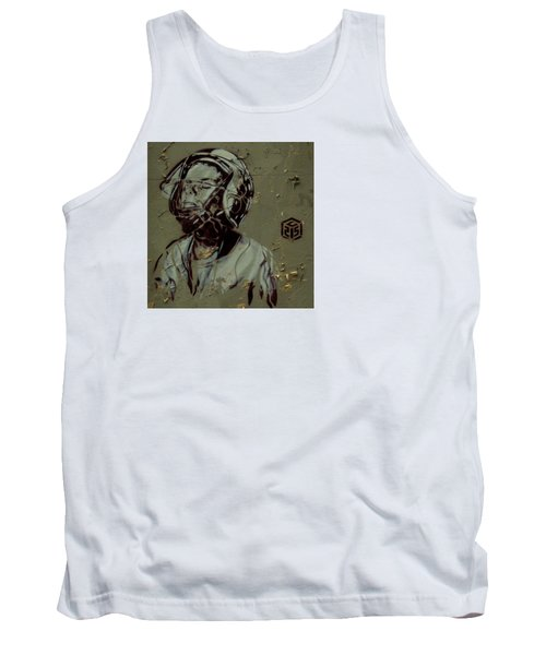 Wheat Paste Art Abstract  Tank Top by Sheila Mcdonald
