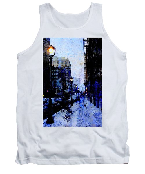 Street Lamps Sidewalk Abstract Tank Top