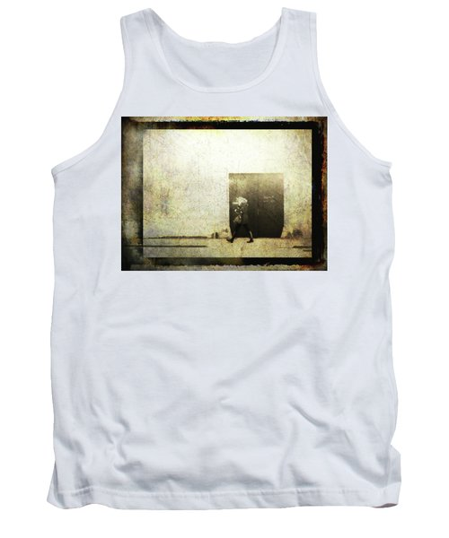 Street Photography - Closed Door Tank Top by Siegfried Ferlin