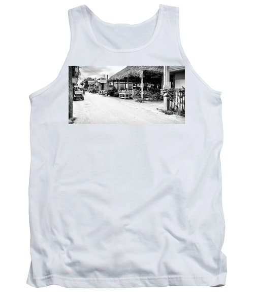 Tank Top featuring the photograph Street Scene On Caye Caulker by Lawrence Burry