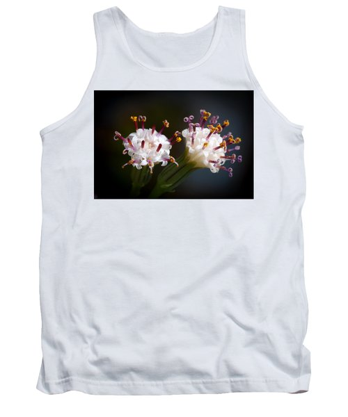 String Of Pearl Succulent Flowers Tank Top by Catherine Lau