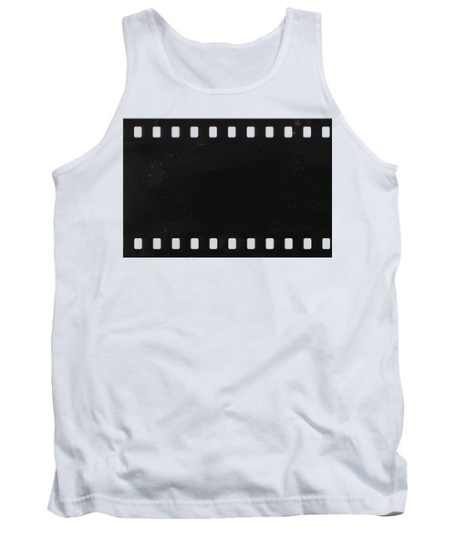 Tank Top featuring the photograph Strip Of Old Celluloid Film With Dust And Scratches by Michal Boubin