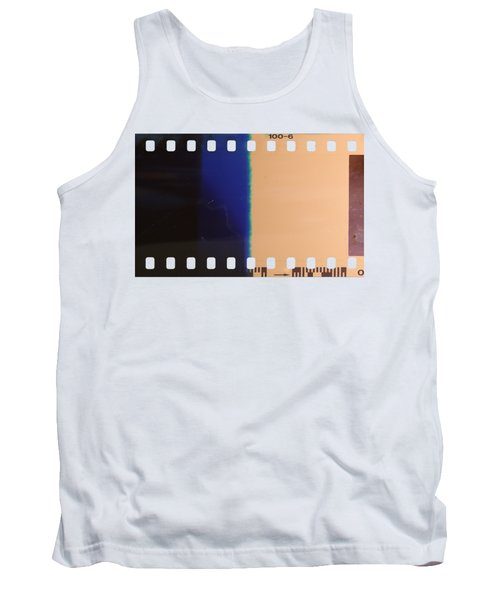 Tank Top featuring the photograph Strip Of The Poorly Exposed And Developed Celluloid Film by Michal Boubin