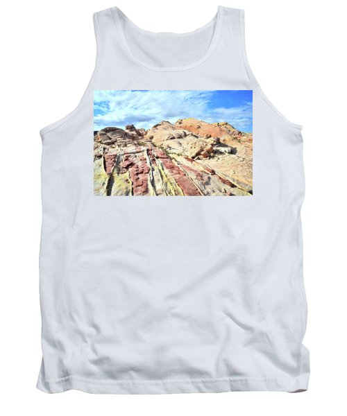 Stripes Of Valley Of Fire Tank Top by Ray Mathis