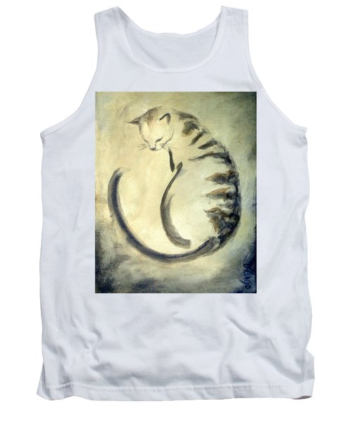 Stripey Cat 1  Tank Top by Dina Dargo