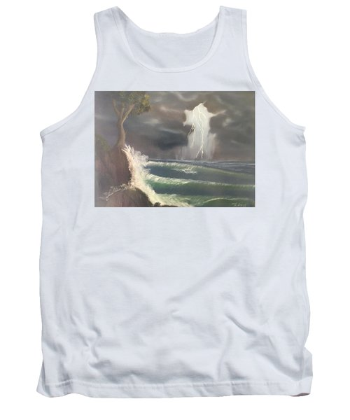 Strong Against The Storm Tank Top by Thomas Janos