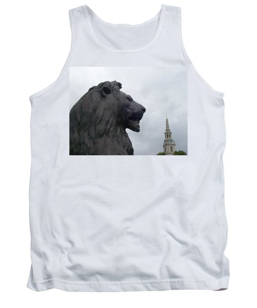 Strong Lion Tank Top by Mary Mikawoz