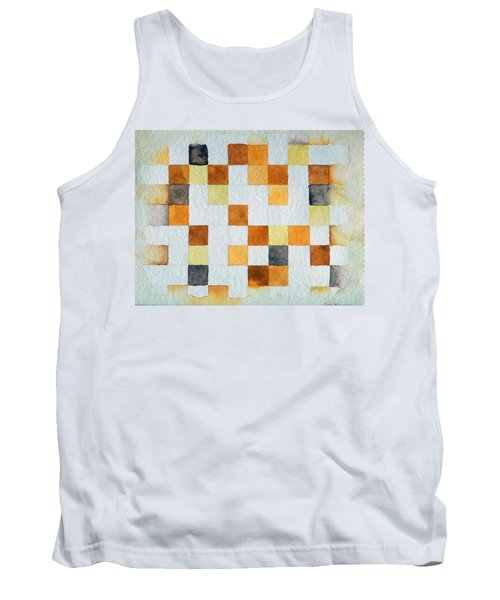 Study In Yellow And Gold Tank Top