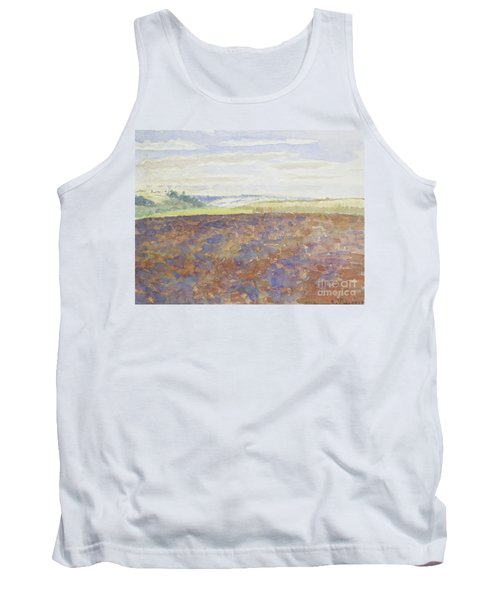 Study Of A Landscape With A Ploughed Field Tank Top